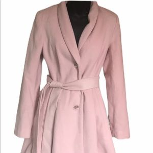 Ivanka trump dirty pink coat with belt  size 2